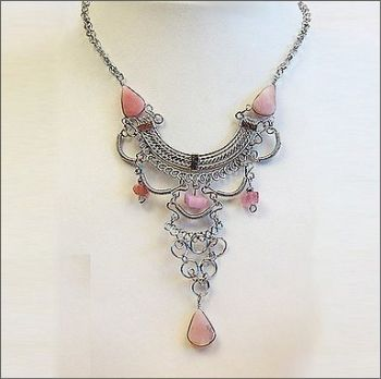 Peruvian Necklace with Pink Opal